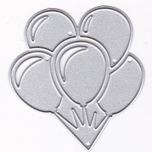 Five Balloons Metal Cutting Dies Stencils for DIY Scrapbooking Album Paper Cards Decorative Crafts Embossing Die Cuts New 2019