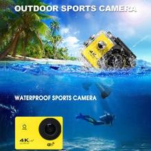 Kebidumei الترا HD 4K عمل كاميرا رياضية 60 متر مقاوم للماء كاميرا رياضية 2.0 شاشة 60fps كاميرا رياضية 1080p الذهاب المتطرفة برو كاميرا