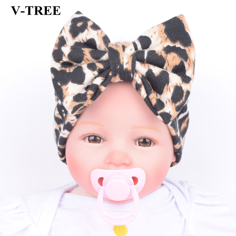 Classic Headbands For Girls Children's Hairband Baby Leopard Hair Band Stretch Bow Hair Accessories Babies Kids Headbands