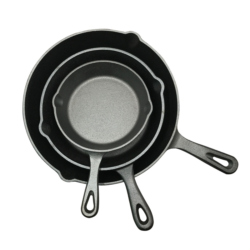 Kitchen Pot Cast Iron Non-stick 14-26CM Skillet Frying Pan For Gas Induction Cooker Egg Pancake Pot Kitchen&Dining Tools