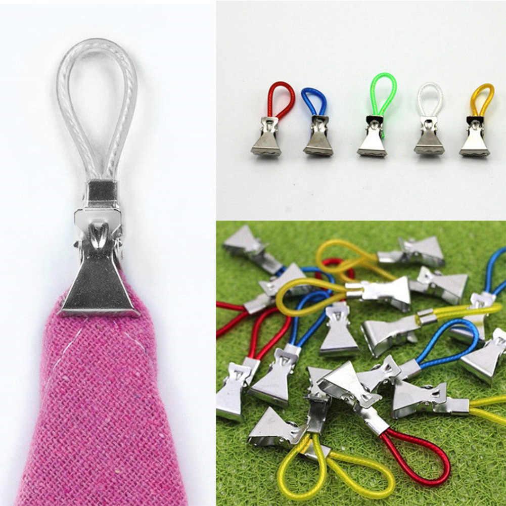 5 ピース/セット金属タオルクリップバスビーチタオルクリッププラスチックカラーロープクリップ家庭の毎日の使用
