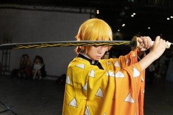 [Funny] 100cm Cosplay Anime Demon Slayer: Kimetsu No Yaiba weapon Agatsuma wooden Sword model Costume party Anime show gift toy