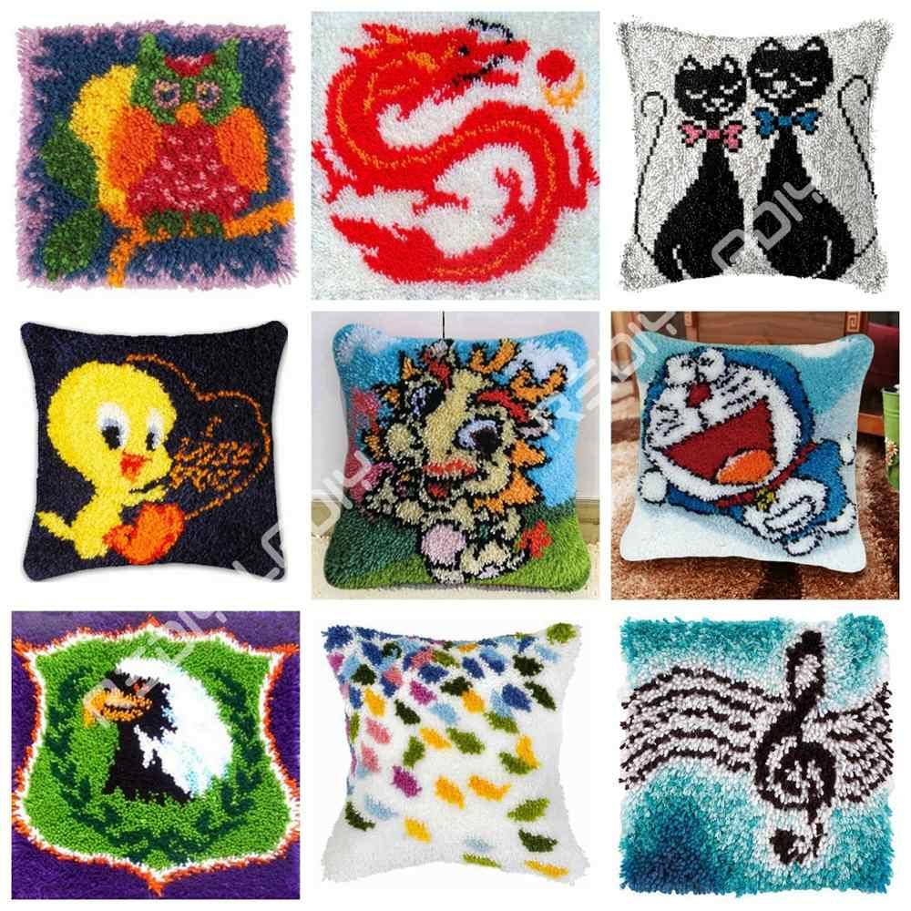 Diy Latch Hook Cushion Kits Dragon Baby