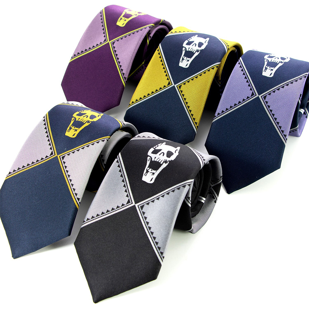 5 Colors JoJo Silk Tie Wonderful Adventure KILLER Queen Heaven Gate Kira Yoshikage Tie Role Playing Tie Costume Cool Gift