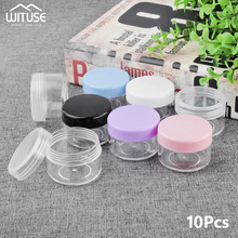 Refillable Bottles Container Storage-Jars Plastic Jar Cosmetic Empty Small 10pcs 20g