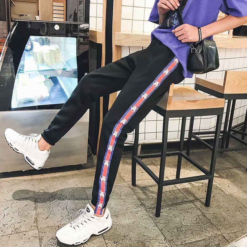 New Products Couples Wu Yifan Celebrity Style Teenager Versatile Ribbon Sweatpants Men And Women Sports Casual Pants Fashion