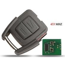 Kutery remoto inteligente chave do carro para opel vauxhall vectra zafira 2 botões 433mhz id40 chip