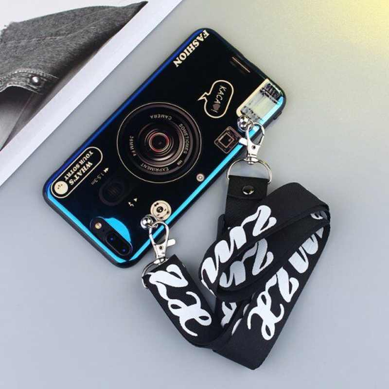 For Samsung Galaxy S10 8 9 Plus S7 S7edge Note9 Note8 M10 M20 M30 40 Case Electroplated Blue Camera Personality phone back cover