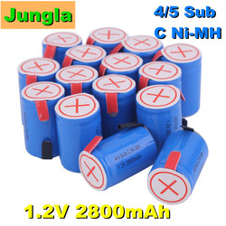 New 4/5SC SC Sub C li-ion Li-Po Lithium Battery high-discharge 1.2V 2800mAh Rechargeable Ni-MH Batteries With Welding Tabs