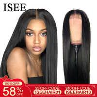 ISEE HAIR - extensions capillaires à lacet, extensions capillaires à lacet droit, extensions capillaires à lacet Remy 360, perruques à cheveux humains et lacet droit avec densité 150% origine Malaisie 13X4/13X6