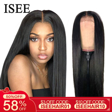 ISEE HAIR Straight Lace Front Wig Remy 360 Lace Frontal