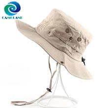 CAMOLAND Waterproof Boonie Hat For Women Men Summer UV Protection Sun Hat Quick Dry Safari Fishing Cap Mesh Breathable Beach Cap
