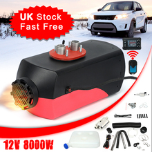 8KW Air Diesel heater 12V 8000W Car Heater For Truck Bus Motorhome+LCD Monitor Switch + Remote Control+Silencer Parking Heater 12v 3kw diesels air parking heater air heating 3000w lcd switch for boats bus car trailer heater silencer remote control