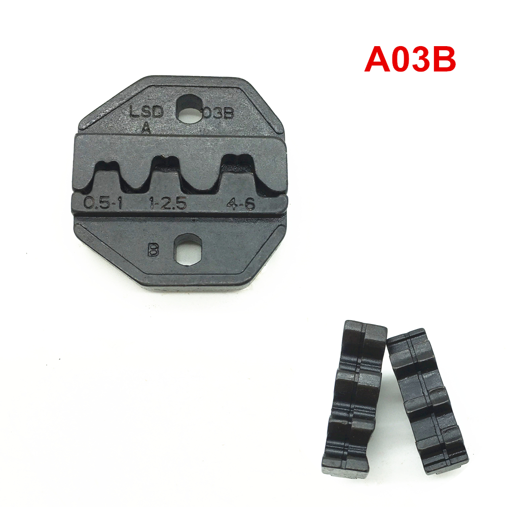 Crimping dies <font><b>A03B</b></font> for non-insulated open plug type connector 17-12AWG 0.5-6mm2 image
