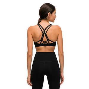 Image 1 - Nepoagym FLY Naked Feel Women Sports Bras Cross Back Yoga Bra Medium Support Push Up Workout Bras