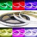Цветная (RGB) COB Светодиодные ленты 24V 630 светодиодов/m мягкий гибкий COB лента цветной Чехол для мобильного APP управления Светодиодный светильни...