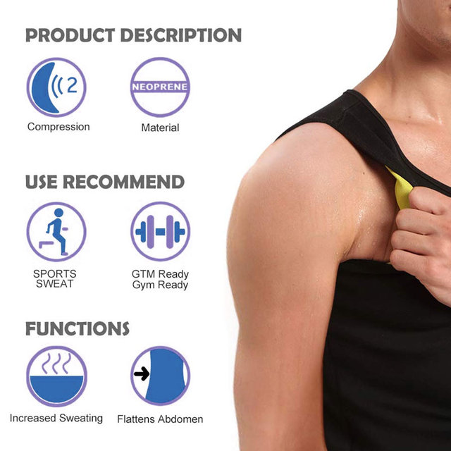 Slimming Belt Belly Waist Slimming Burning Body Fat Abdomen Vest Shaperwear Sweat Shaper Neoprene Men Corset 5