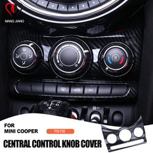 Auto Interieur Sticker Carbon Fiber Center Console Knop Switch Cover Sticker Decoratieve Voor mini cooper F55 F56 Auto styling