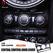 自動車インテリアステッカー炭素繊維センターコンソールノブスイッチカバーステッカー装飾ミニクーパー F55 F56 車スタイリング