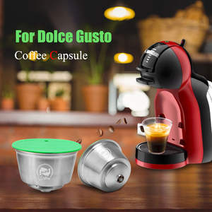 Capsule Cup Refillable COFFEE-FILTER Dolce Gusto Nescafe with Milk-Crema Compatible