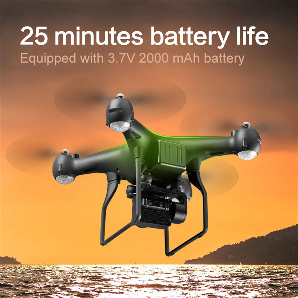 4K Quadcopter Drone With Hd Camera 1080p 4 LED Dron Remote Control Drone Helicopter Flight 25mins Rc Drones Toys For Kids S32T