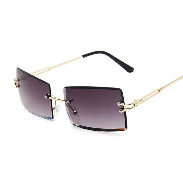 Gafas De Sol cuadradas De color rosa y morado para mujer, anteojos De Sol femeninos Retro De diseñador De marca, lentes rectangulares Vintage, pequeños 3