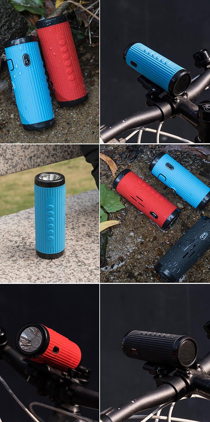 mãos livres + banco de potência lanterna montagem da bicicleta