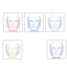 Facial Skin Care Photon Therapy LED Facial Mask 7 Colors  Facial Beauty Skin Care Rejuvenation Wrinkle Acne Removal Machine 3 colors facial led mask machine photon therapy light anti wrinkle acne removal skin rejuvenation facial skin care beauty device