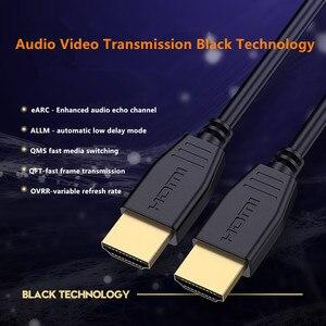 Image 2 - Fibre optique HDMI 8K 2.1 câble 48G 120HZ avec Audio vidéo HDMI cordon ultra hd HDR 4:4:4 perte amplificateur pour PS4 HDTV projecteur