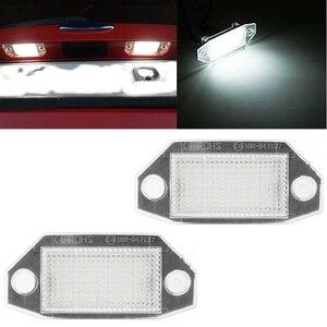 Image 2 - 2 pces 12v 24 led luzes da placa de licença do número do carro lâmpadas branco para ford mondeo mk3 mkii 2000 2007 4 porta/5 porta