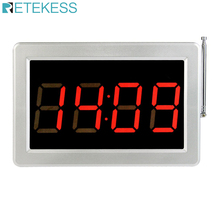 Retekess Call Customer Service Restaurant Pager Counter Screen Host  Voice Broadcast Wireless Calling  System F3290D