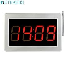Retekess دعوة خدمة العملاء مطعم بيجر عداد شاشة المضيف صوت البث نظام اتصال لاسلكي F3290D