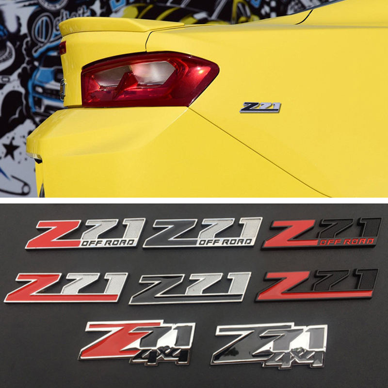 1 Piece <font><b>Sticker</b></font> Front Grille for Chevrolet Z71 <font><b>4X4</b></font> <font><b>Off</b></font> <font><b>Road</b></font> Colorado Tahoe Cruze Corvette Chrome Car Body Emblem Modification image