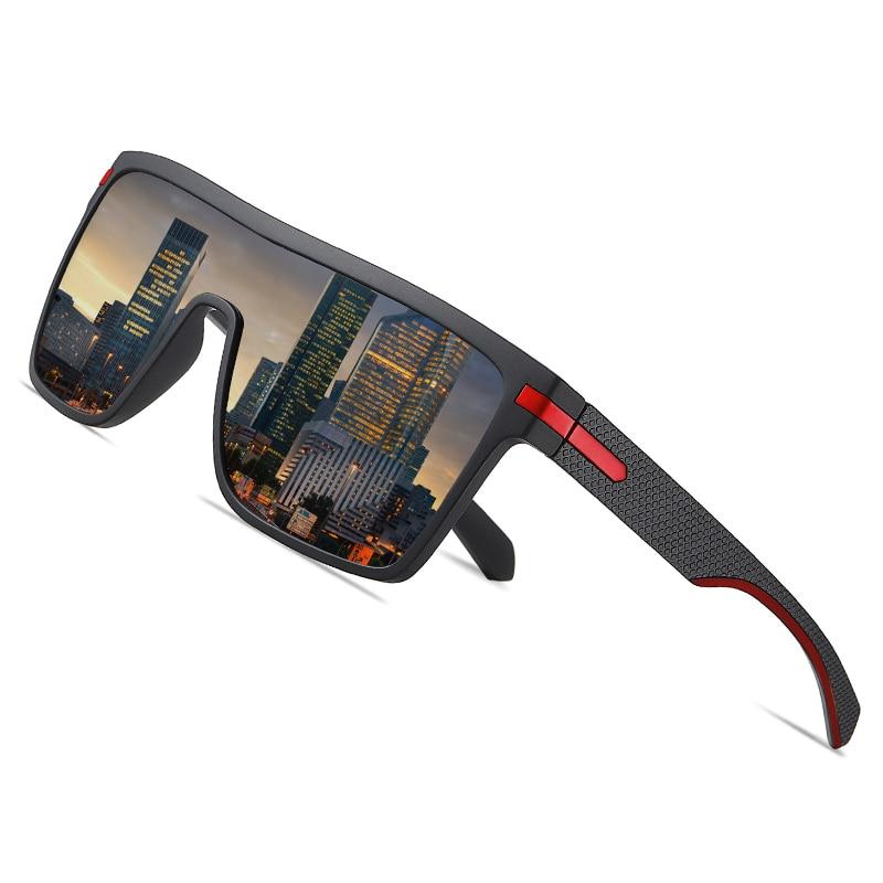 AOFLY Brand Polarized Sunglasses Men Fashion Oversized Flexible Frame Square Male Sun Glasses For Driving Goggle Zonnebril Heren