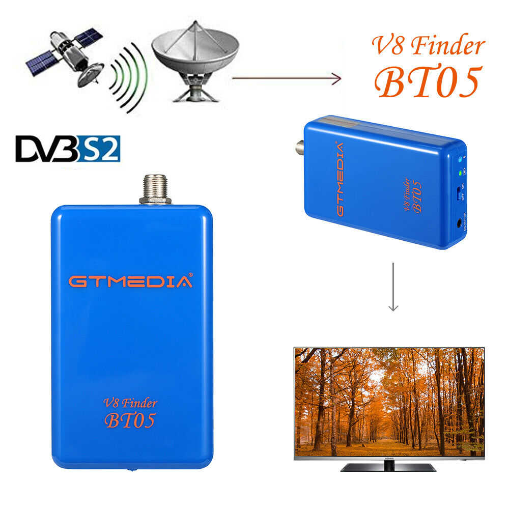 GTMedia V8 Finder BT05 BT03 DVB-S2 TV Satelit Receiver 1080P HD Bluetooth Penerima Satelit Finder Meter Sat Finder
