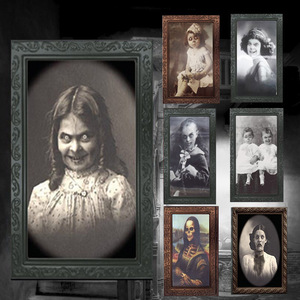 Image 1 - Verwisselbare 3D Ghost Foto Frame Halloween Decoratie Spooky Vrijgezellenfeest Supplies Craft Levert Halloween Props