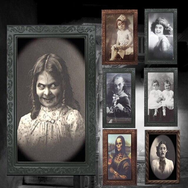 Verwisselbare 3D Ghost Foto Frame Halloween Decoratie Spooky Vrijgezellenfeest Supplies Craft Levert Halloween Props