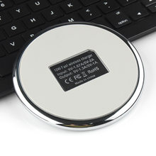 New Style Zinc Alloy Mirror Wireless Charging 5 V/2A Wireless Charger Applicable Samsung Apple Mobile Phone Charger(China)