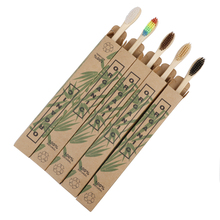 8pcs Travel Bamboo Toothbrushes Soft Bristle Oral Care Tooth Brush 10pcs soft bristle children bamboo toothbrushes ecofriendly oral care travel toothbrush rainbow color kid's bamboo toothbrushes