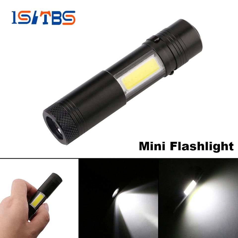 Миниатюрный светодиодный фонарик Q5 + COB, портативный уличный водонепроницаемый перезаряжаемый светильник с аккумулятором 14500, освещение для пешего туризма, рыбалки, кемпинга|Фонарики и осветительные приборы| | АлиЭкспресс