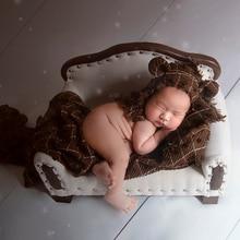 Marfil recién nacido posar sofá fotografía Props Vintage Sitter sofá cama Photo Studio Accessort Sitter Photo Props