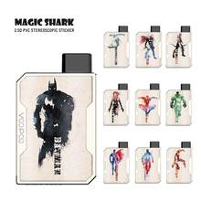 Magique requin Anvengers Marvel Spider Man Superman capitaine américain fer homme Batman Case autocollant peau Film pour Voopoo glisser Nano(China)