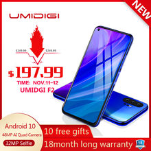 "UMIDIGI F2 6.53 ""FHD + 6GB 128GB version globale Android 10 32MP Selfie Helio P70 48MP AI Quad caméra téléphone portable 5150mAh NFC(China)"
