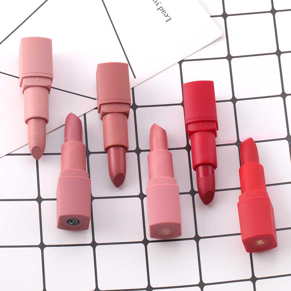Miss rosa batom fosco à prova dlong água de longa duração veludo lábio vara sexy vermelho marrom pigmento maquiagem ferramenta cosméticos cuidados com os lábios tslm1