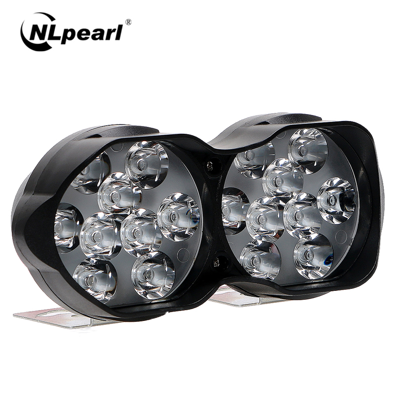 Nlpearl 1pcs 9SMD 18SMD Car Light Assembly Led Fog Lights For Motorcycles Scooter LED Work Headlight DRL Spotlight External Lamp