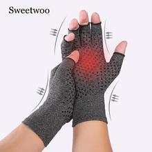 Arhtitis Gloves Men Women Therapy Compression Gloves Hand Arthritis Joint Pain Relief Health Care Half-finger Silicone Gloves fishsunday 1 pair magnetic therapy fingerless gloves arthritis pain relief heal joints braces supports health care tool 0718
