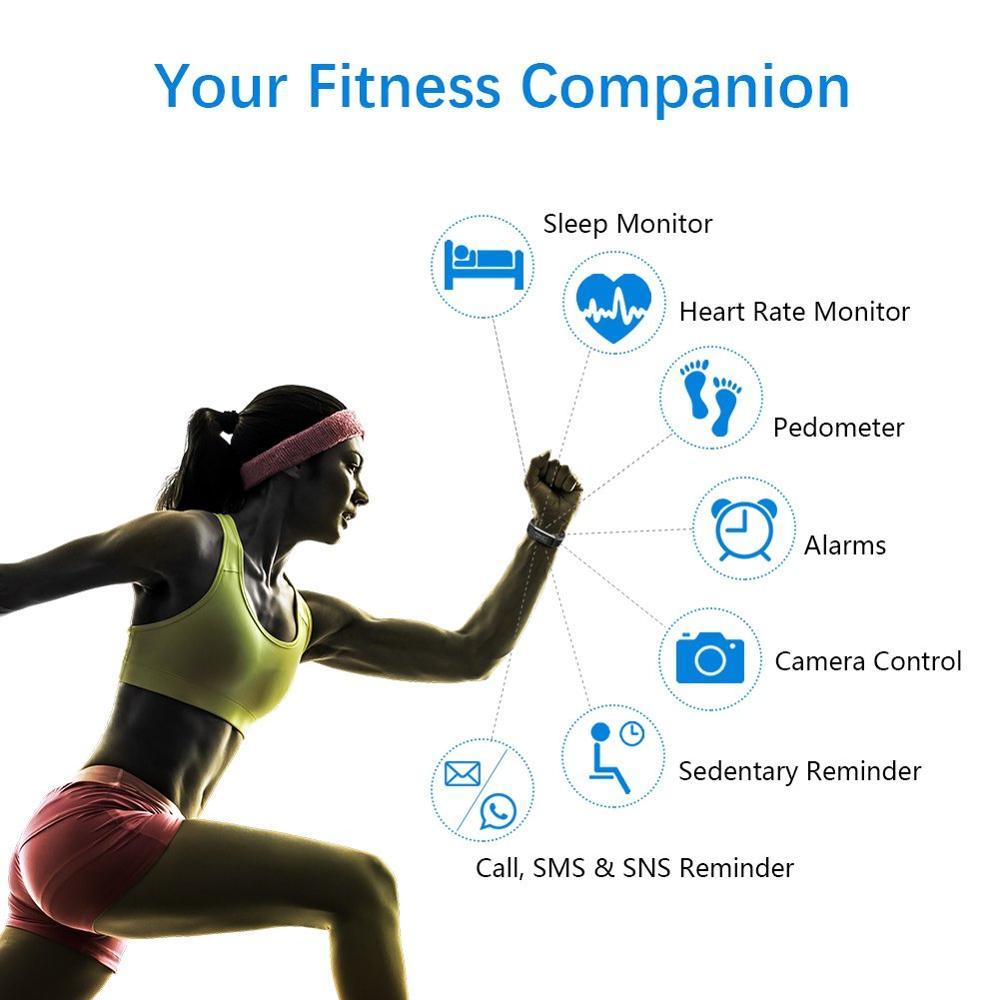 Funasera Smart Watch uomo donna cardiofrequenzimetro monitoraggio della pressione sanguigna Fitness Tracker Smartwatch Sport Watch per ios android + BOX 2