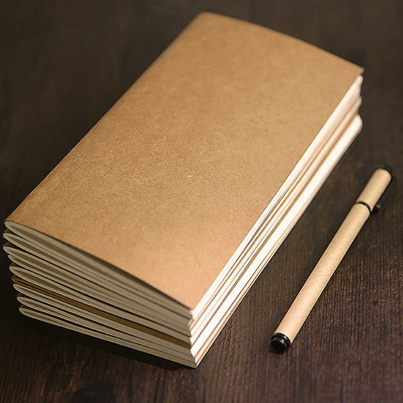 Kraft Paper Notebook Account Book Dot Journal Diary Memo Blank Page Stationery