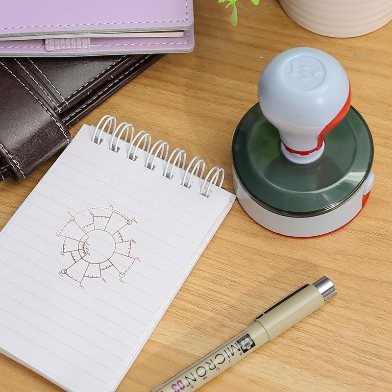 Time Date Plan DIY Stamp 12/24 Hours Schedule Planner Scrapbooking Photosensitive Stamps JR Deals