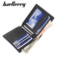 Деловой кошелек baellerry из мягкой кожи для мужчин короткий